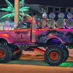 Pattaya night party jeep