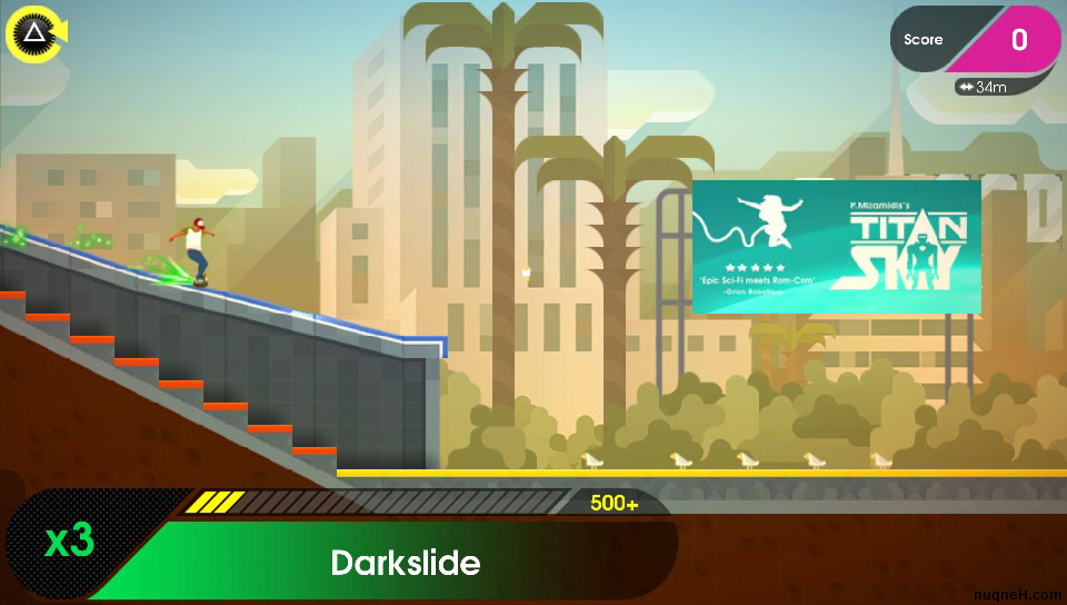 Darkslide in OlliOlli 2: Welcome to OlliWood