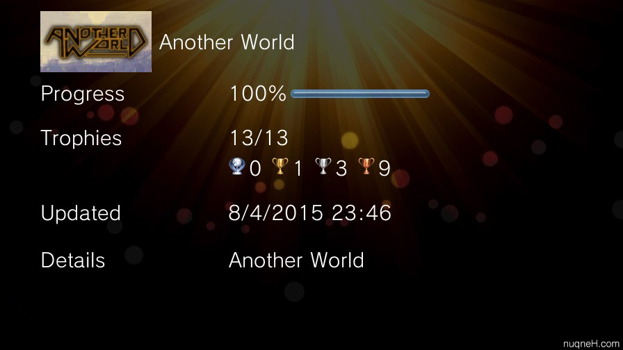100% trophy Another World