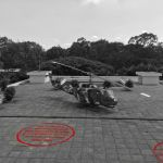 Bomb marks on the rooftop of Independence Palace