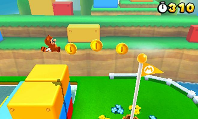 Flagpole in Super Mario 3D Land