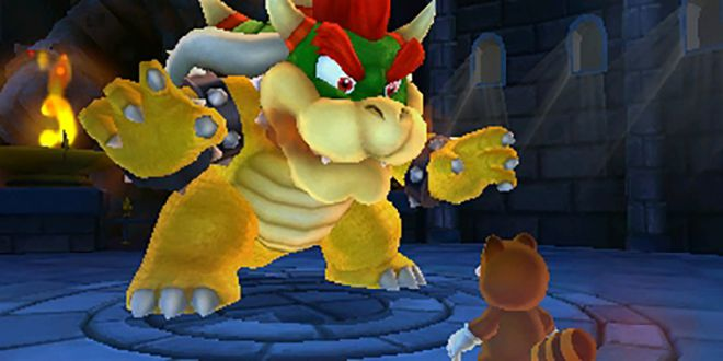 Mario face Bowser in Super Mario 3D Land
