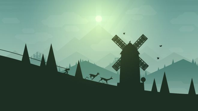 Llamas hunting in Alto's Adventure