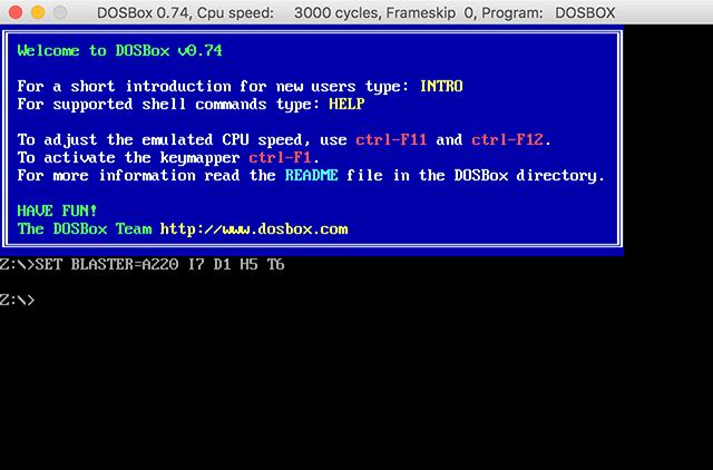 DOS in DOSBox
