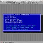 Warcraft digitized sound card setup step 1