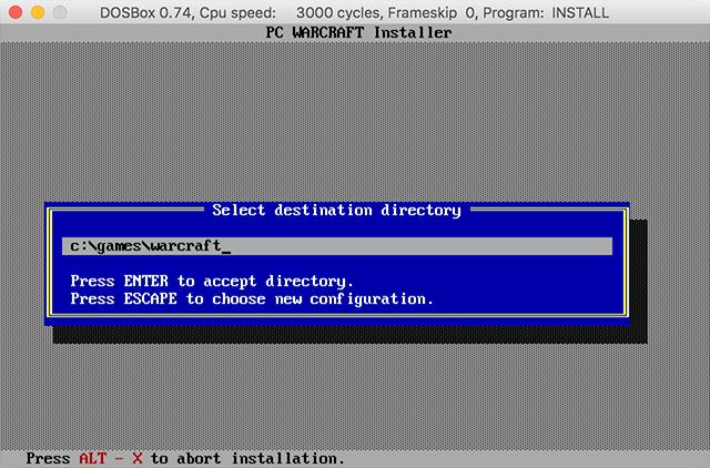 Warcraft installation directory