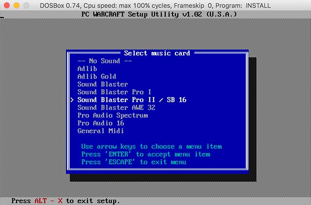 Let's run the original Warcraft on a modern computer – nuqneH