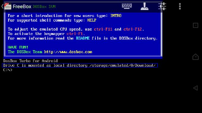 aFreeBox download folder default mounting