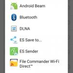 Send file to smarphone via dropbox: step 3